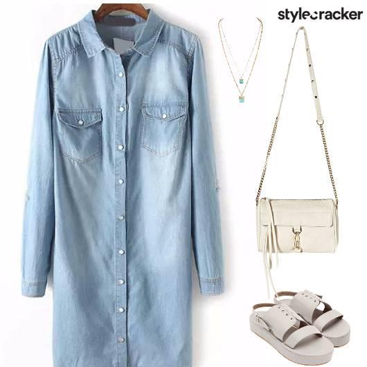 ShirtDress Denim Casual OnTheGo College - StyleCracker