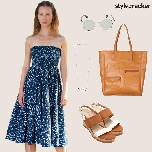 Summer Dress Printed Casual Brunch - StyleCracker