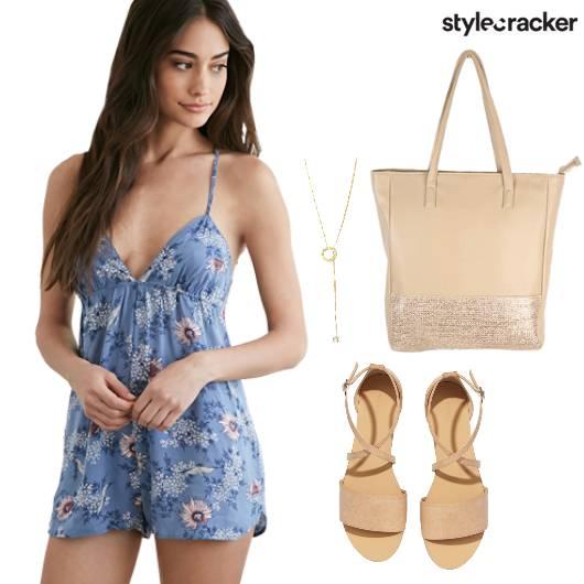 Floral Playsuit Casual Summer  - StyleCracker