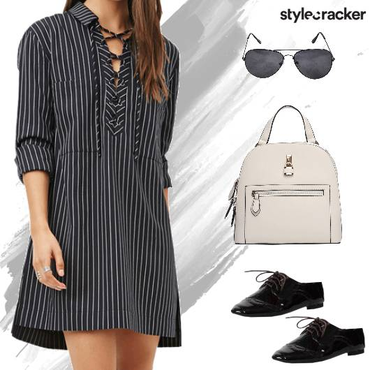 Casual Dayout Shirt Dress Backpack - StyleCracker