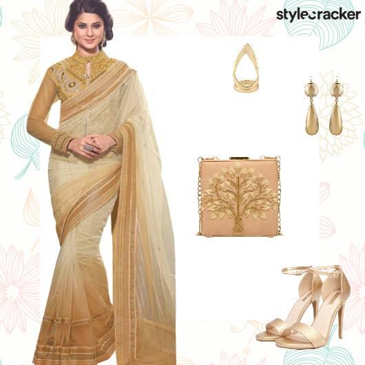 Festive Ethnic Indian Saree Wedding - StyleCracker