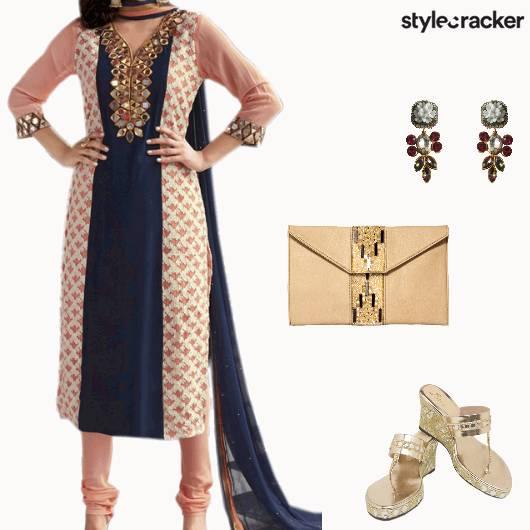 Festive Indian Wedding Sangeet Suit - StyleCracker