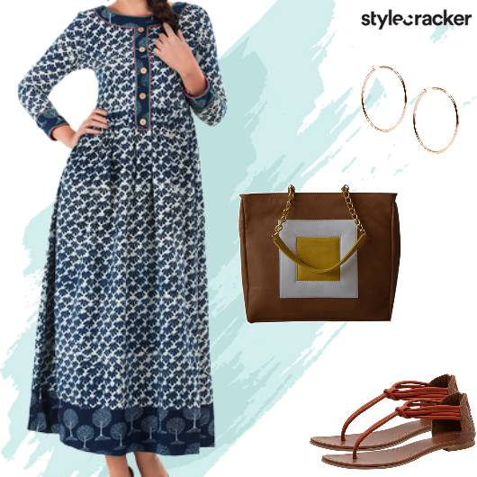 Printed Maxi Dress Casual Summer - StyleCracker