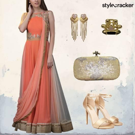 Indian Festive Anarkali Heels Earrings  - StyleCracker