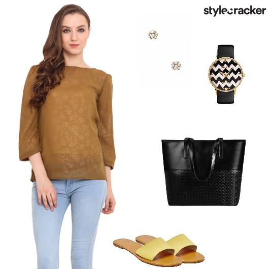 Top jeans Flats Casual - StyleCracker