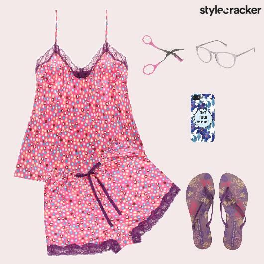 Cami Shorts Flats Comfort PyjamaParty - StyleCracker
