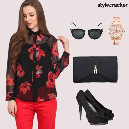 Workwear Floral Heels Sunglasses Summer  - StyleCracker