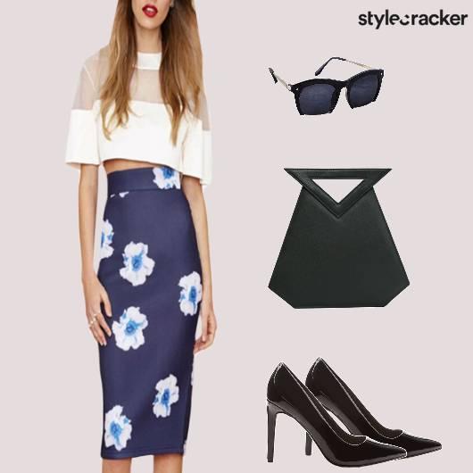 Floral Midiskirt Pumps Summer Brunch - StyleCracker
