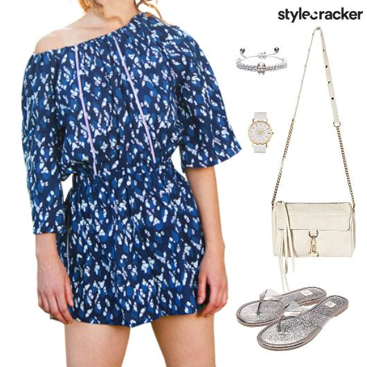 Printed JumpSuit  SlingBag Flats Lunch - StyleCracker