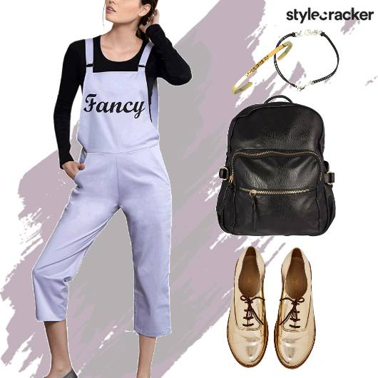 Backpack College Dungaree Casual - StyleCracker