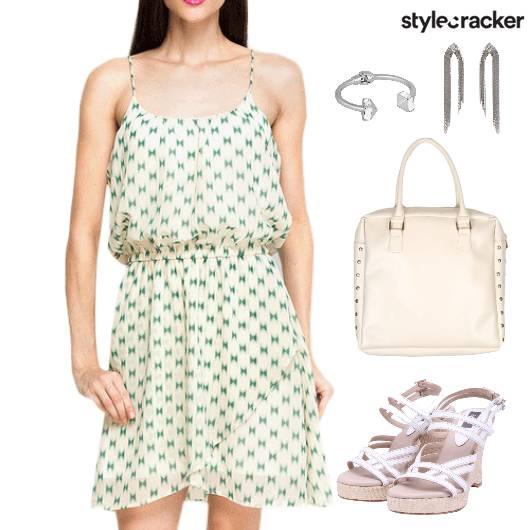 Printed Dress Wedges Lunch Accessories - StyleCracker