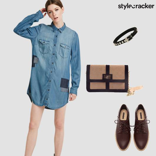 DenimShirt Dress Laceups Casual Day  - StyleCracker