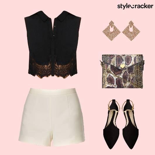 Shorts CropShirt  DayOut Meetings  - StyleCracker