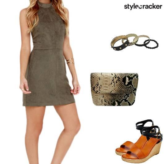 Dress MilitaryGreen SlingBag Bracelets - StyleCracker