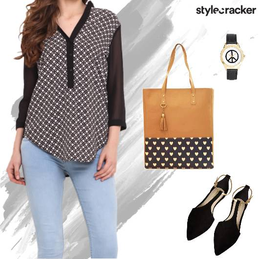 Printed Top Office Work Casual - StyleCracker