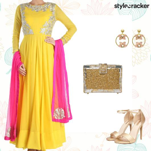 Festive Indian Ethnic Anarkali - StyleCracker