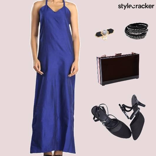 MaxiDress Clutcg SlingBack Accessories Dinner - StyleCracker