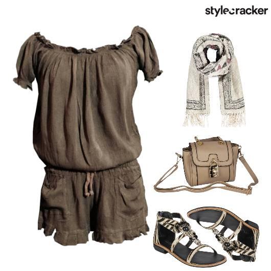 Romper MilitaryGreen Flats Summer Day - StyleCracker