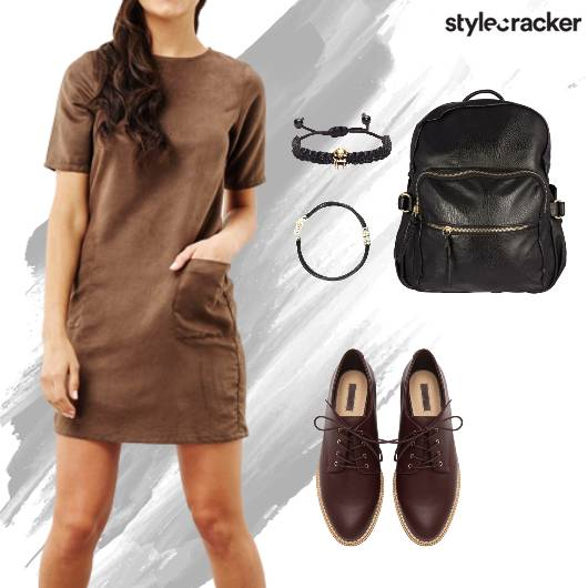 Suede Dress Backpack Casual Comfy - StyleCracker