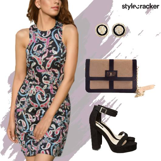Party Bodycon Printed Paisley Dress  - StyleCracker