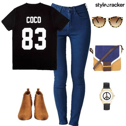 Tshirt Denims Boots Casual DayOut - StyleCracker