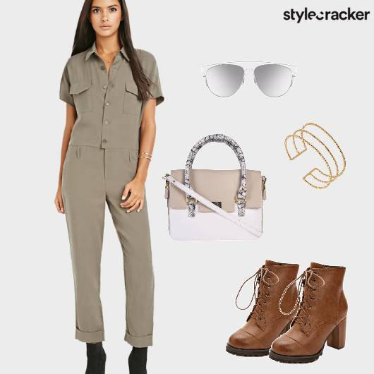 Jumpsuit Military Boots LaceUp Sunnies - StyleCracker