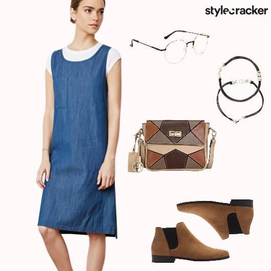 Denim ChelseaBoots SlingBag Bracelets  - StyleCracker