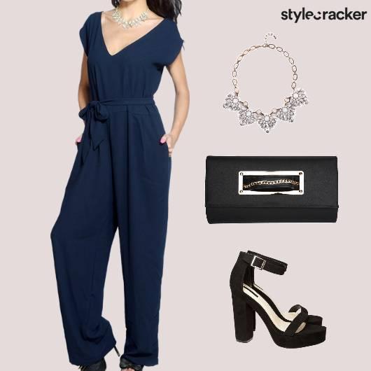 Glam Cocktail Jumpsuit Heels  - StyleCracker