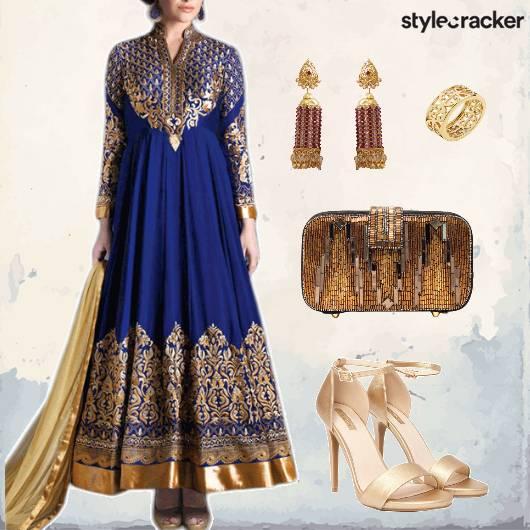 Indian Festive Anarkali  - StyleCracker