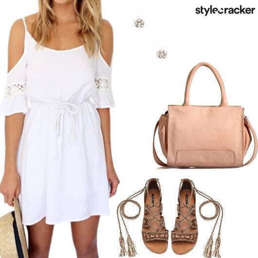 Whitedress Gladiators Handbag  Studs Casual - StyleCracker