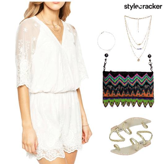 Lace Jumpsuit Flats Accessories Lunch - StyleCracker