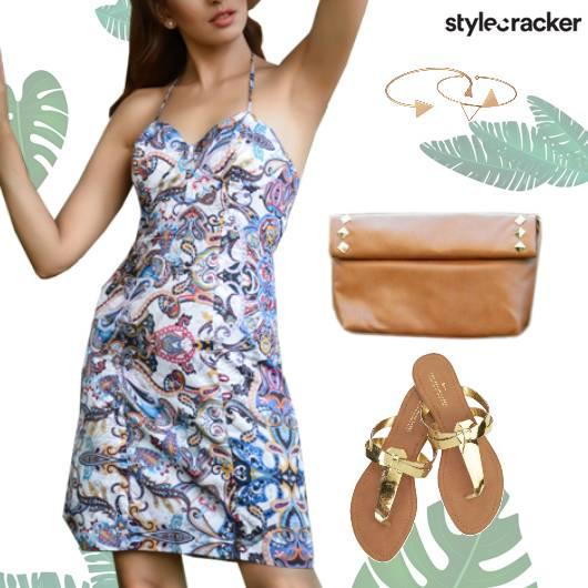 Printed  Dress Casual Flats  - StyleCracker