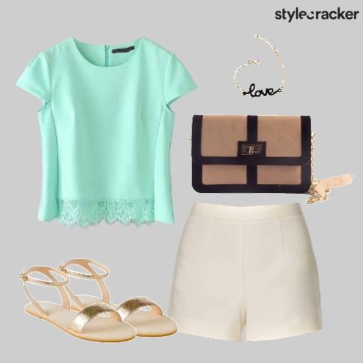 Shorts Top Casual Dayout Brunch  - StyleCracker