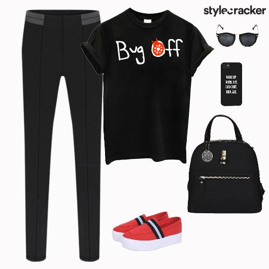 TShirt SlimPants SlipOns BackPack - StyleCracker