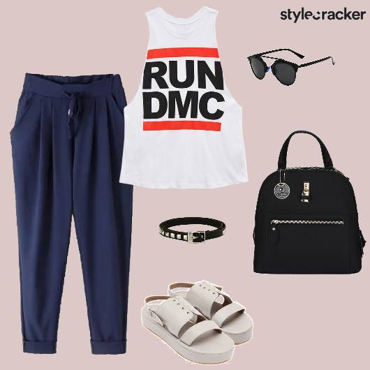 Muscletee Pants Flatforms Backpack Casual - StyleCracker