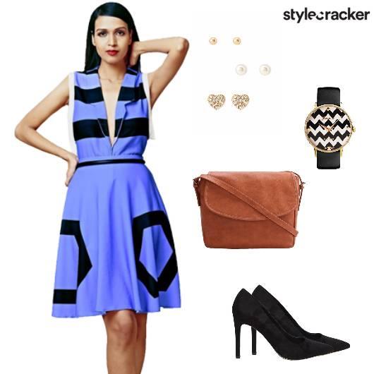 Dress Graphic Pumps Bag Slingbag Watch - StyleCracker