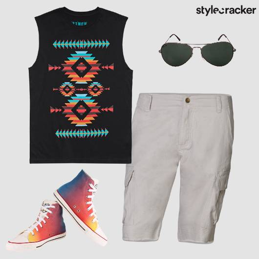 Summer Tribal Converse Shorts Tee - StyleCracker