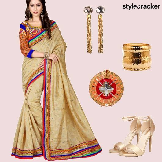 Saree Clutch Heels Indian Ethnic  - StyleCracker