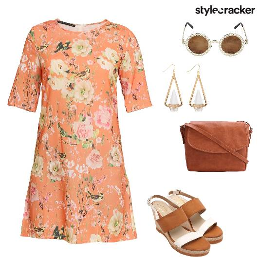 Floral Wedges SlingBag Sunnies Summer - StyleCracker
