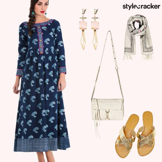 Dress Flats SlingBag Scarf Shoulderdusters - StyleCracker