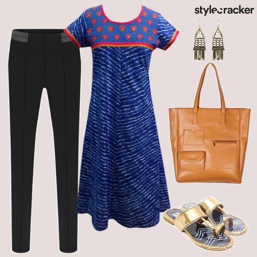 Indianwear Casual Work Flats Tote - StyleCracker