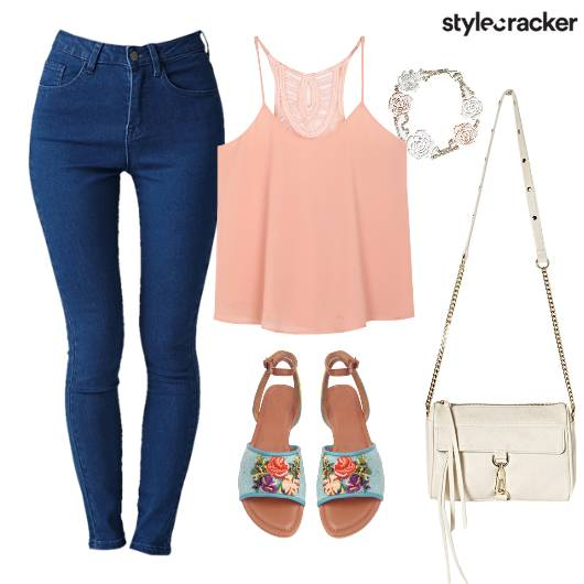 Casual Tropical Floral Denim College - StyleCracker