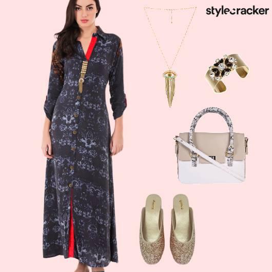 Dress Indowestern Outdoor Summer  - StyleCracker