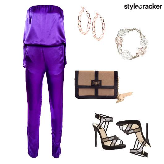 Jumpsuit SlingBag Night Event Mesh  - StyleCracker