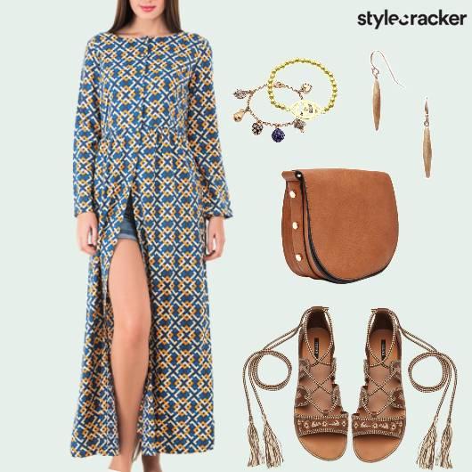 Summer Printed Flats Tieup Casual - StyleCracker