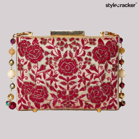 SCLOVES Embroidered Clutch Bag - StyleCracker