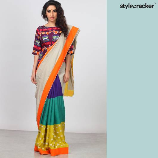 SCLOVES Printed Sarees Indian - StyleCracker