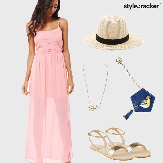 Maxi Summer Gold Flats Hat - StyleCracker