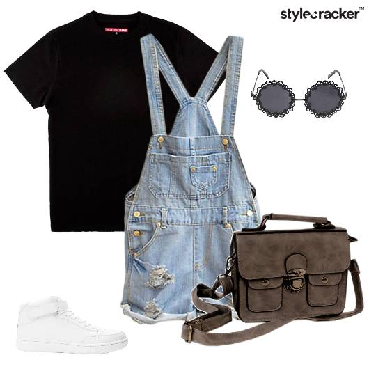 Overalls Denim Ripped Sneakers Casual - StyleCracker
