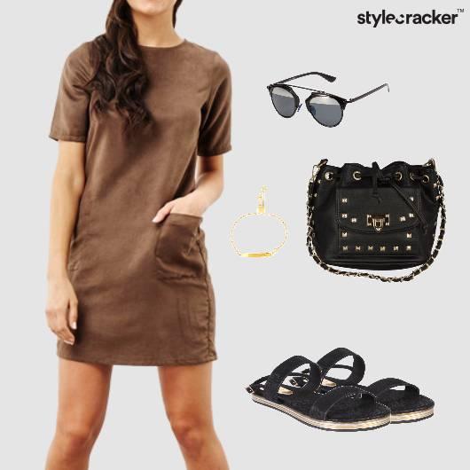 Suede Dress Casual Sunglasses  - StyleCracker
